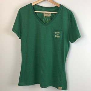 My Generation Born Lucky Graphics T-Shirt XL Green